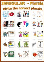 English Worksheet: Plural - Irregular nouns