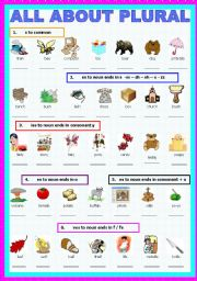 English Worksheets: All about Plural