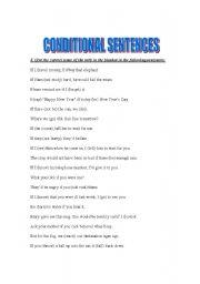 English Worksheets: Conditonals