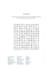 English Worksheets: Animal search