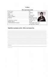 English Worksheets: Profiles