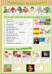 English Worksheets: Tag Question - Positive Statement