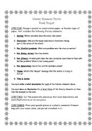 English Worksheets: Literary Elements
