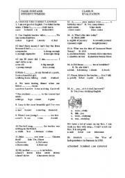 English Worksheet: 3RD EXAM FOR 8TH GRADE TURKISH STUDENTS