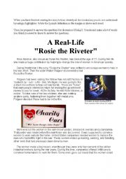 English Worksheets: Rosie the Riveter