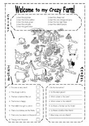 English teaching worksheets: Farm animals