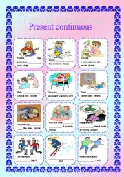 Present continuous (editable with key)