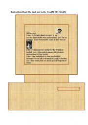 English Worksheets: reading1