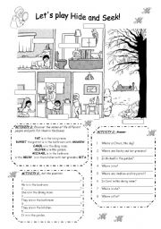 English Worksheet: HOUSE  - Parts of the house - B&W
