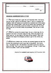 English Worksheets: CAR ACCIDENT