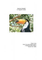 English Worksheets: Amazon Animals: A Cinquain Lesson