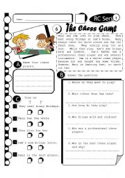 English Worksheet: RC Series 06 - The Chess Game (Fully Editable + Answer Key)