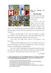 English Worksheet: Test on endangered animals