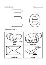 english worksheets letter ee. Black Bedroom Furniture Sets. Home Design Ideas