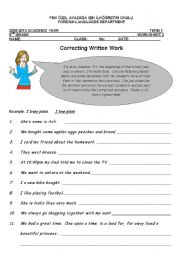English Worksheets: Learning how to correct compositions