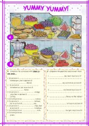 English Worksheet: COUNTABLES - UNCOUNTABLES