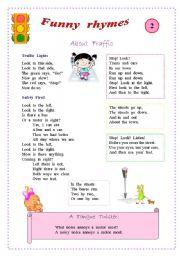 English Worksheet: Rhymes for kids