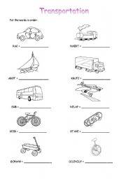 english teaching worksheets the transports. Black Bedroom Furniture Sets. Home Design Ideas