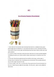 English Worksheets: Popsicle Stick Art