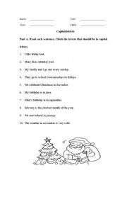 English Worksheets: Capital letter