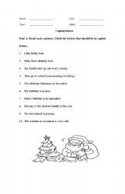 English Worksheets: Capital letter