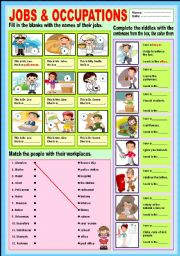 English Worksheets: Jobs and Occupations
