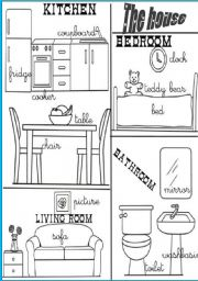 English Worksheets: rooms