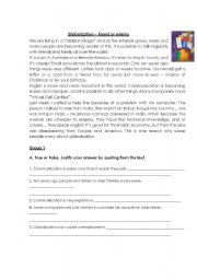 English Worksheets: Test : Globalization