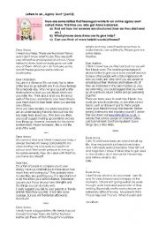 Letters to an agony aunt