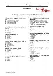 English Worksheet: The Spanish Apartment/ L�auberge espagnole - worksheet