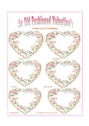 English worksheet: An Old Fashioned Valentine�s: Present perfect and present perfect progressive