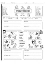 We love music 2 PAGES
