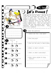 English Worksheets: RC Series 10 - Let�s Dance (Fully Editable + Answer Key)