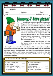 YUMMY, I LOVE PIZZA! ( 2 PAGES )