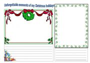 English worksheet: Christmas memories
