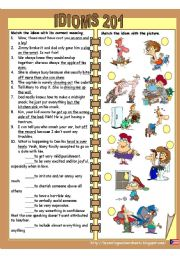 English Worksheets: idioms 201