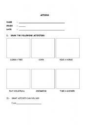 English Worksheets: ACTION ACTIVITY