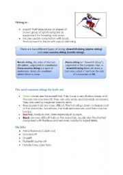English Worksheet: Ski vocabulary