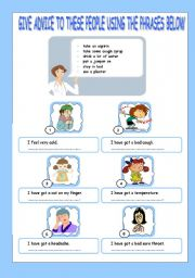 English teaching worksheets: Health