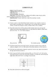 English worksheet: am, is, are lesson plan
