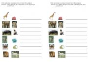 English Worksheet: Compare the animals