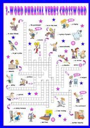 English Worksheet: Third series of 3-Word Phrasal Verbs. Crossword (Part 3/3)