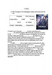English worksheets: Using movies worksheets, page 125
