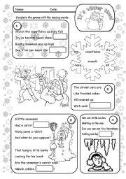 English Worksheet: Poems