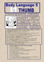 English Worksheets: BODY LANGUAGE 5