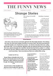 English Worksheets: 2 Funny news issue