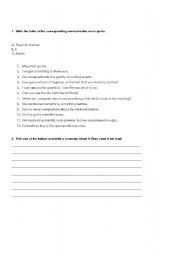 English Worksheets: Which movie is it?