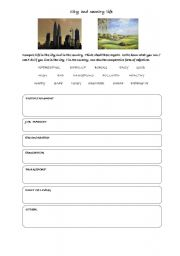 English Worksheet: city and country life