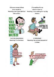 English Worksheets: Sayings 4