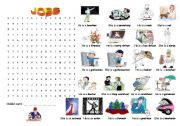 English Worksheets: Jobs (wordsearch)
